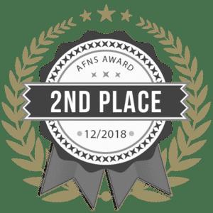 Badge gagnant de 2eme place au concours de l'afns photographie maternité internationale.